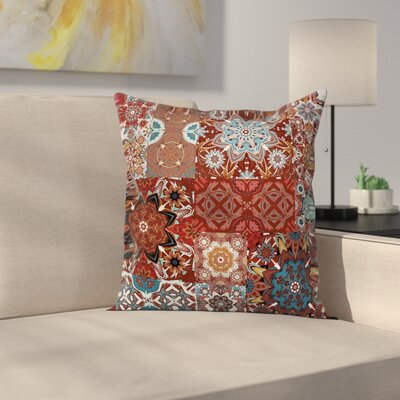Victorian Mandala Indian Square Pillow Cover Size: 24 x 24