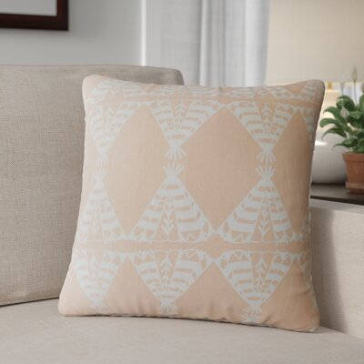 Roi Graphic Cotton Throw Pillow Color: Orange