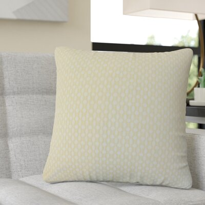 Recker Geometric Cotton Throw Pillow Color: Yellow