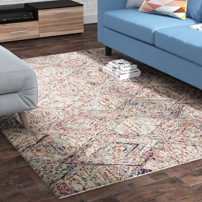 Divernon H-Woven Wool Red Area Rug Rug Size: Rectangle 39 x 59