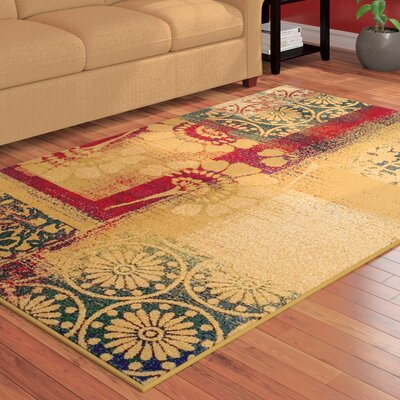 Colena Black/Beige Area Rug Rug Size: Rectangle 8 x 10