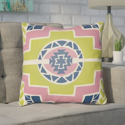 Adamson Indoor Throw Pillow Size: 20 H x 20 W x 4 D, Color: Lime/Pink