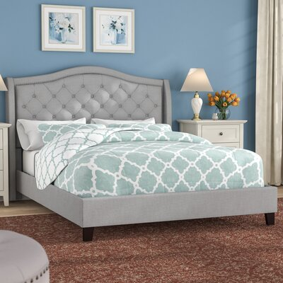 Virginia Queen Upholstered Platform Bed Color: Gray ACOT6864 39987588
