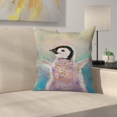 Michael Creese Baby Penguin Throw Pillow Size: 16 x 16
