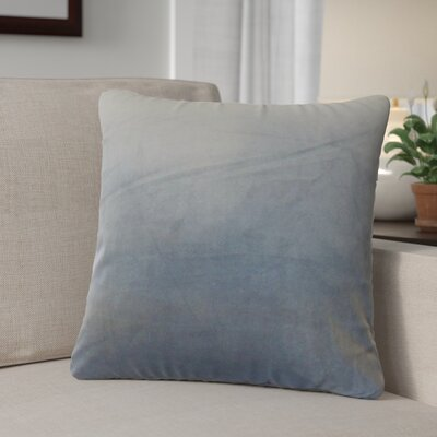 Theriault Solid Cotton Throw Pillow Color: Steel