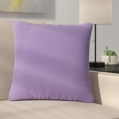 Mayne Water Resistant Square Outdoor Throw Pillow Color: Purple Lavender