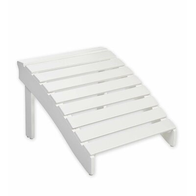 Adirondack Wooden Ottoman Color: White
