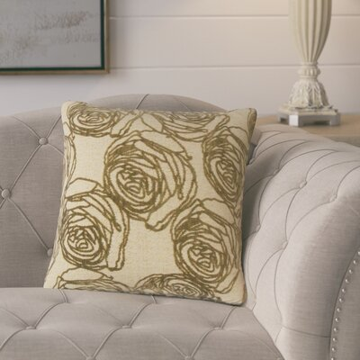 Beglin Floral Throw Pillow Color: Cork