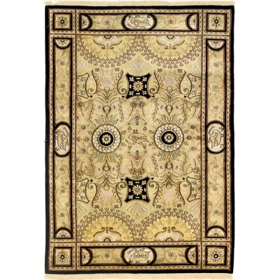 One-of-a-Kind Hand-Woven Wool Beige Area Rug