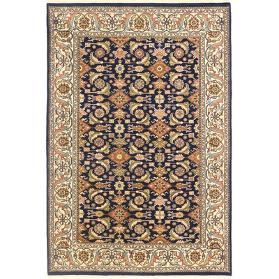 One-of-a-Kind Hand-Woven Wool Blue/Brown Area Rug