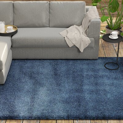 Holliday Navy Blue Area Rug Rug Size: Rectangle 51 x 8