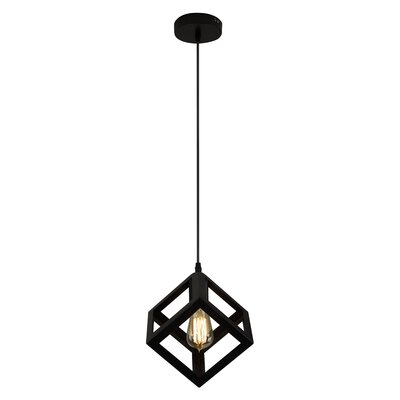 Ehrhart Vintage Iron Square 1-Light Mini Pendant