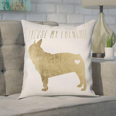 Christoper Frenchie Throw Pillow
