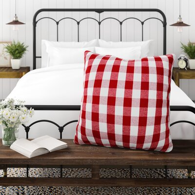 Batiste Plaid Checkered Euro Pillow Color: Red