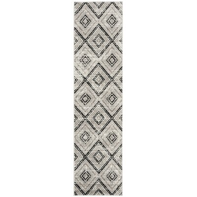 Coghill Gray Area Rug Rug Size: Runner 2 x 8