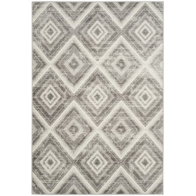 Coghill Gray/Ivory Area Rug Rug Size: Rectangle 4 x 6