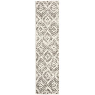 Coghill Gray/Ivory Area Rug Rug Size: Runner 2 x 8
