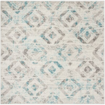 Cohan Ivory Area Rug Rug Size: Square 6'7