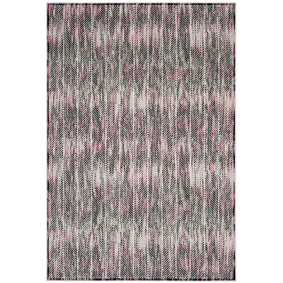 Coggin Gray/Pink Area Rug Rug Size: Rectangle 4 x 6
