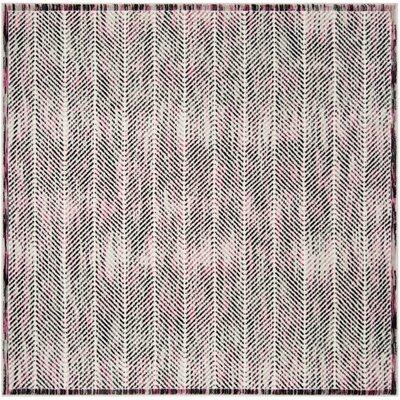 Coggin Gray/Pink Area Rug Rug Size: Square 67