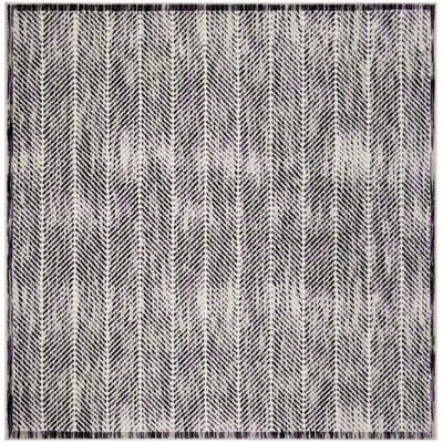 Coggin Gray/Purple Area Rug Rug Size: Square 67