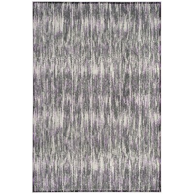 Coggin Gray/Purple Area Rug Rug Size: Rectangle 4 x 6