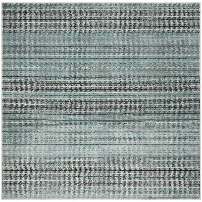 Cohn Blue/Gray Area Rug Rug Size: Square 67