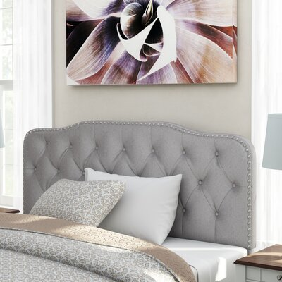 Suffield Full/Queen Upholstered Panel Headboard Upholstery: Smoked Gray