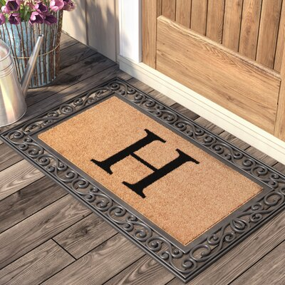 Allete Monogrammed Rubber Doormat Letter: H
