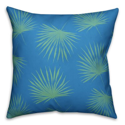 Silver Sands Leaves Throw Pillow