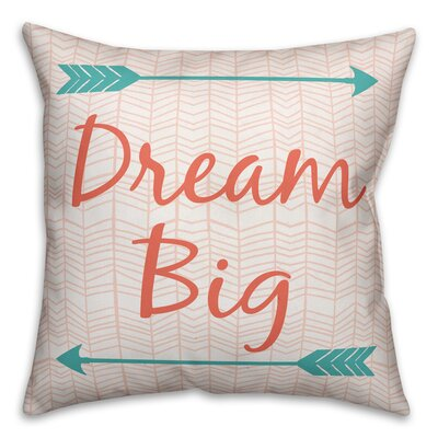 Ormiston Dream Big Arrows Throw Pillow