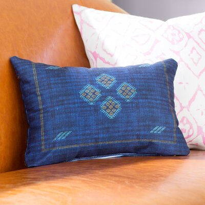 Keana Lumbar Pillow Color: Navy/ Red/ Blue