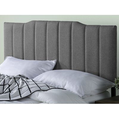 Atnip Upholstered Panel Headboard Size: 22.4 H x 41.7 W x 1.8 D, Color: Gray
