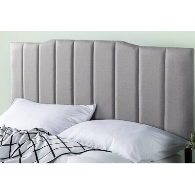 Atnip Upholstered Panel Headboard Size: 22.4 H x 56.7 W x 1.8 D, Color: Light Gray