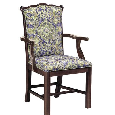 Upholstered Dining Chair Upholstery Color: Howdy Saddle, Frame Color: English Oak