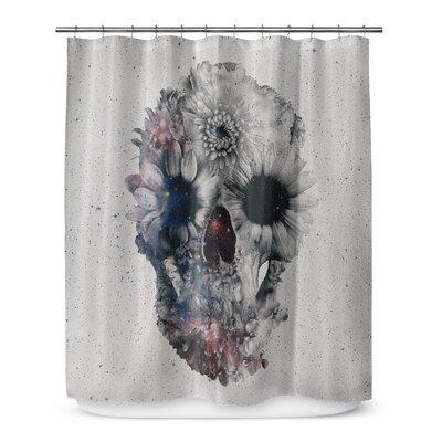 Grogg Floral Skull Shower Curtain
