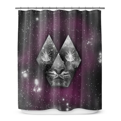 Grose Cosmic Tiger Shower Curtain