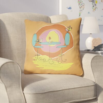 Colindale Square Indoor Throw Pillow Size: 18 H x 18 W x 4 D, Color: Irange
