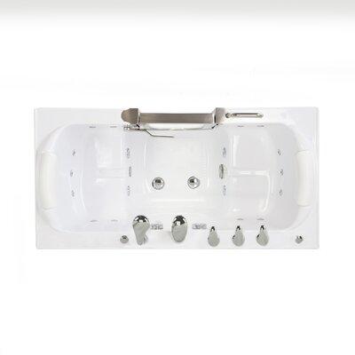Companion Acrylic 60 x 30 Walk-In Combination Bathtub Faucet: Fast Fill