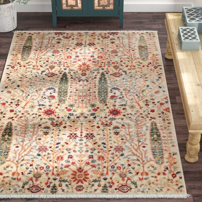 Marianna Olive/Red Area Rug Rug Size: Rectangle 5 x 75