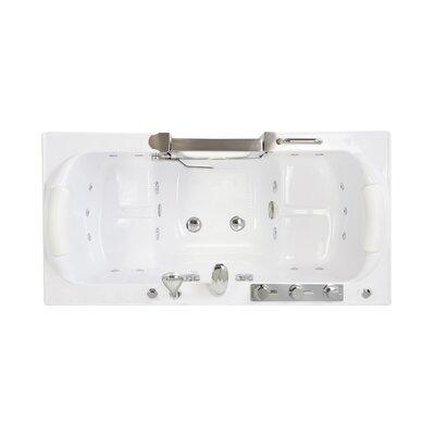 Companion Acrylic 60 x 30 Walk-In Combination Bathtub Faucet: Thermo