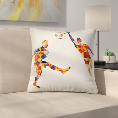 Modern Footballer Pillow Cover Size: 18 x 18