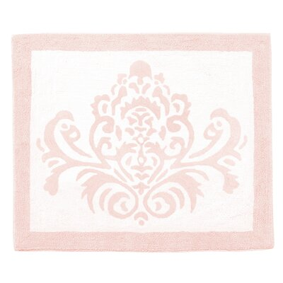 Amelia Cotton Blush Pink/White Area Rug