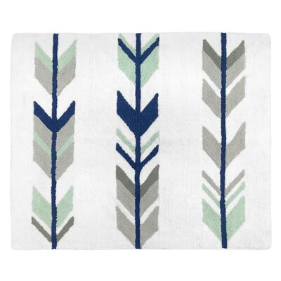 Floor Cotton Blue/Gray Area Rug