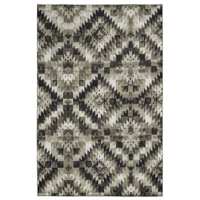 Reinhard Diamond Mirage Charcoal Area Rug Rug Size: Rectangle 5 x 8