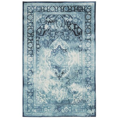 East Broadway Teal Area Rug Rug Size: Rectangle 8 x 10