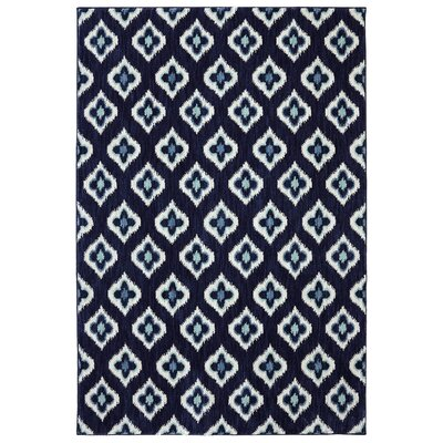 Naudain Indigo Area Rug Rug Size: Rectangle 53 x 710