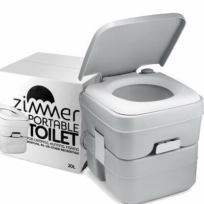Comfort Portable 0.1 GPF Round One-Piece Toilet