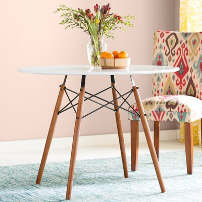 Katya Round Dining Table Size: 30 H x 36 W x 36 D