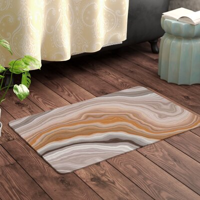 Burnt Geological Memory Foam Bath Rug Size: 0.5 H x 17 W x 24 D